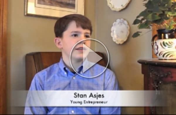 Video of young entrepreneur Sam Asjes