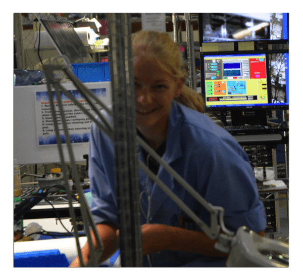 Cathy working in the RBB facility