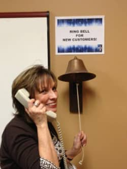 Photo of ringing the bell