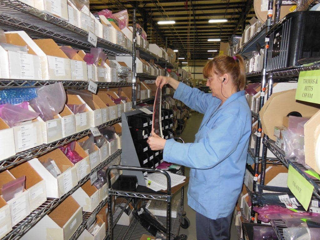 Picture of taking inventory in a job shop