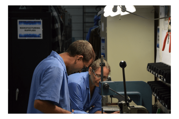 RBB Systems employees in electronic job shop