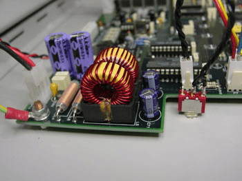 photo of custom electronic assembly