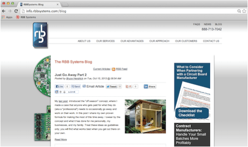 RBB Systems Blog Redesign