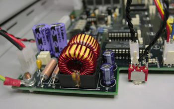 Photo of custom electronic assembly