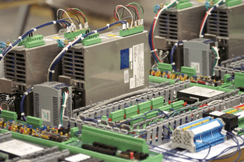 Photo of electronics manufacturing circuit board