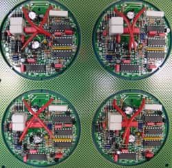Electronic assembly of small circuits