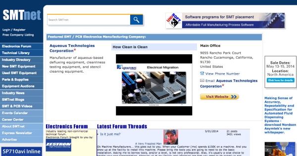 SMT Net web page