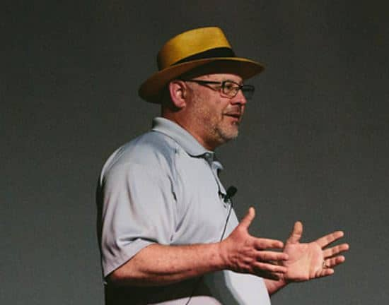 Bruce speaking at the Small Giants Summit